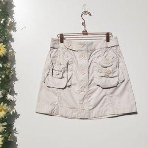 Marc Jacobs Skirts - Marc Jacobs Pinstripe Beige Cotton Button Skirt